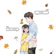 Cute Couple Dp, Cute Couple Drawings, Cute Couple Cartoon, Anime Love Couple, Cute Anime Couples, Couple Art, A Love So Beautiful, Big Love, Cute Love