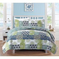 Home Fashion Designs Zahira Collection 3-Piece Printed Quilt Set