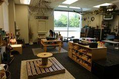 Reggio Inspired Construction Center in classroom ~ Fairy Dust Teaching