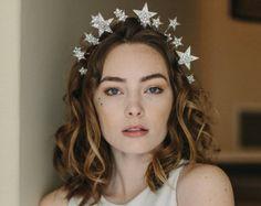 Starburst wedding tiara star crown bridal by EricaElizabethDesign