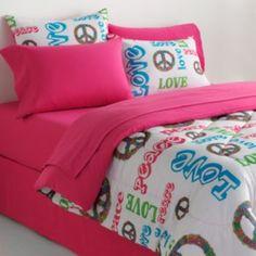 Veratex Peace & Love Reversible 4-pc. Comforter Set - Queen