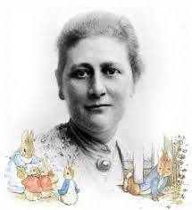 Beatrix Potter, ilustradora de cuentos infantiles.