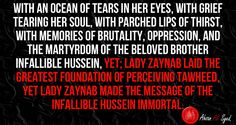 We will never forget your slogan Lady Zainab, we will keep resonating-Labayaka Ya Hussein, till our last breath.
