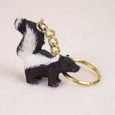 Shop for keychain holder with hand painted, stone resin tiny skunk figurine. Key chains are available in animal, cat or your favorite dog breed. Chains For Men, Diy Keychain, Leather Keychain, Key Chain Holder, Gold Rings, Great Gifts, Cufflinks, Rings For Men