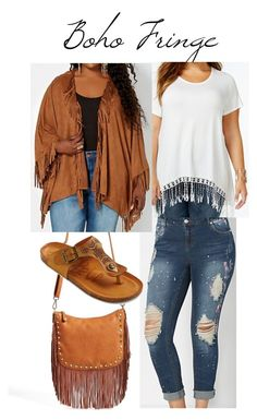 Boho Fringe by smilesmakesunshine on Polyvore featuring American Rag Cie, Mad Love and Street Level