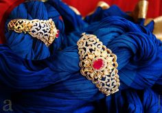 Indian Jewellery and Clothing: Glorious designs of diamond bracelets studded with kundans,rubies from Amita Damani designs