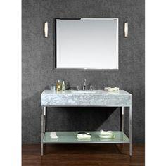 """Brightwater 48"""" Single-sink Bathroom Vanity Set - 16344484 - Overstock.com Shopping - Great Deals on Ariel Bathroom Vanities"""