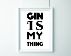 Check out our art & collectibles selection for the very best in unique or custom, handmade pieces from our shops. Gin Puns, Avocado Drink, Cocktails Made With Gin, Gin Quotes, Whisky, Gin Festival, Drink Tags, Gin Recipes, Gin Bar