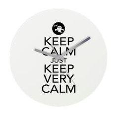 Keep Calm just Keep Very Calm Wall Clock> Keep Calm just Keep Very Calm> Victory Ink Tshirts and Gifts