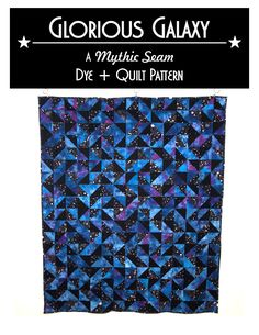 This quilt pattern includes both dyeing instructions and quilting instructions!