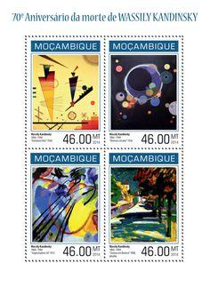 "MOZ 14129 aWassily Kandinsky (""Merry Structure"" 1926, ""Several Circles"" 1926, ""Improvisation 26"" 1912, ""Autumn in Bavaria""1908)"
