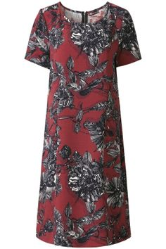 The Big Wave | Early Fall | Dress | Roses | Print | Red