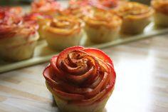 odczucia, uczucia, macierzyństwo..: Jesienne róże z jabłek - cud miód, palce lizać :)