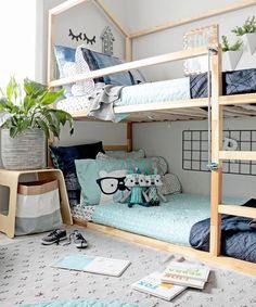 42 Fascinating Shared Kids Room Design Ideas 42 Fascinating Shared Kids Room Design Ideas - Planning a kid's bedroom design can be a lot of fun. It can also be a daunting task as you tackle the issue of storage and making things easy to clean. Kura Bed Hack, Ikea Kura Bed, Ikea Kura Hack, Ikea Hacks, Ikea Beds, Kids Bedroom Designs, Kids Room Design, Design Bedroom, Minimalist Kids