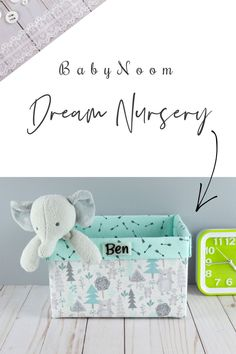 This gray forest gift basket could fit right into a woodland nursery existing decor. A new mom would be so happy to get this diaper organizer for her baby shower!   This nursery decor storage basket has light calming mint fabric with arrows print on the inside and cute forest trees with little bears on the outside. Diaper Organization, Nursery Organization, Nursery Storage Baskets, Storage Bins, Baby Shower Themes, Baby Shower Gifts, New Mom Gift Basket, Baby Shower Baskets, Woodland Nursery Decor