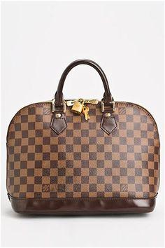 Louis Vuitton Pre-Owned Damier Ebene Alma Dome Satchel - Enviius b92f43a63568d