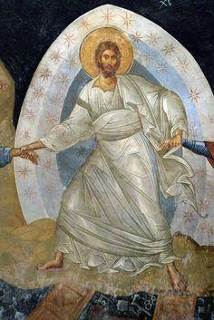Iconography of the Bright Resurrection of Christ. Byzantine Icons, Byzantine Art, Catholic Art, Religious Art, Mural Painting, Mural Art, Fresco, High Art, Orthodox Icons