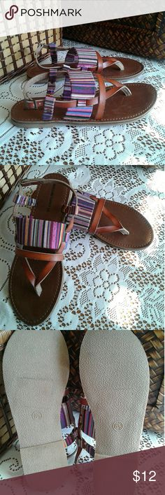 Sandals. Colorful summer sandals. Worn maybe once. Mossimo Supply Co. Shoes Sandals