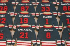 Hockey jersey cookies by Miss Biscuit | Flickr - Photo Sharing!