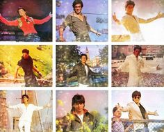 Shahrukh Khan Signature Pose In Various Bollywood Movies