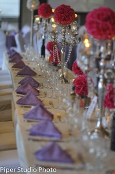 Pink and Purple. My wedding deco..