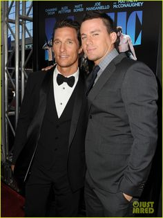 Channing Tatum and Matthew McConaughey heat up the red carpet at the premiere of Magic Mike held at Regal Cinemas L.A. Live on Sunday (June 24) in Los Angeles.