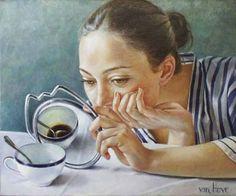 190 Masterpieces For Artist Francine van Hove - French Artist - Art And Beauty Mirror Art, Mirror Image, Claude Bernard, Open Art, Art Van, Paintings I Love, Portrait Paintings, Human Art, Album Photo