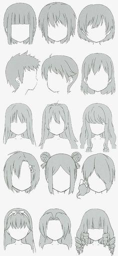 Drawing Hair Tutorial, Manga Drawing Tutorials, Art Poses, Drawing Poses, Hair Styles Drawing, Hair Styles Anime, Drawing Tips, Drawing Ideas, Art Drawings Sketches Simple