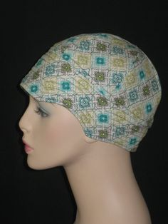 Chemo Hats or Caps for Hair Loss /Cool Green Aqua and by hedart