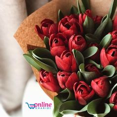 Find images and videos about beautiful, flowers and red on We Heart It - the app to get lost in what you love. Cheap Flowers Online, Best Online Flowers, Order Flowers Online, Amazing Flowers, Fresh Flowers, Beautiful Flowers, Best Flower Delivery, Bloom Baby, Tulip Bouquet