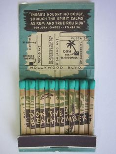 Don The Beachcomber, Hollywood, CA #frontstriker #feature #matchbook To design…