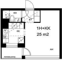 Vanha viertotie, Etelä-Haaga, Helsinki, 1h+kk 25 m², SATO vuokra-asunto