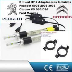 Kit Led Peugeot Citroen con led PHILIPS de 9600 Lúmenes, Kit de conversión de Faros Halogenos H7 a Faros Led + Adaptadores :: MERCAELITE, kit xenon,Kit Led,Bombillas Led y Xenon,Accesorios