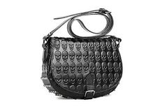 New Fashion Embossed Skull Shoulder Messenger Handbag w/Metal Studs Gothic Punk in Clothing, Shoes & Accessories | eBay