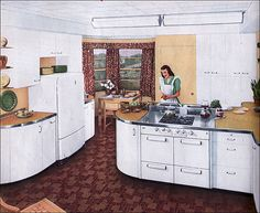 1940s Kitchen by St. Charles by American Vintage Home, via Flickr