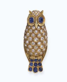 A SAPPHIRE AND DIAMOND BROOCH, BY RENE BOIVIN - Christie's
