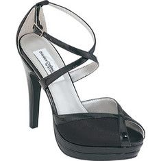 These are exotic sandals made out of satin and patent leather material with a buckle closure, platform peep toe and a 4  heel.
