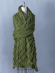 Ravelry: Spring Lace Shawl #81058AD pattern by Lion Brand Yarn