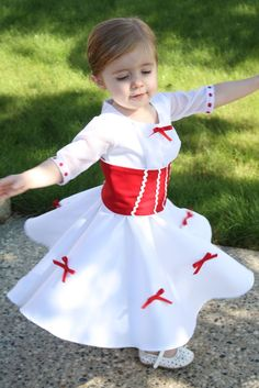 The Train To Crazy: Handmade Dress Up Series: DIY Mary Poppins Dress Tutorial