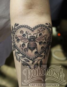 honey bee cameo tattoo