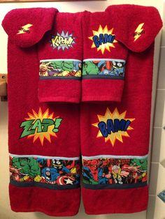 Jumping Beans Monster Bath Towels Tot Bath Childrens