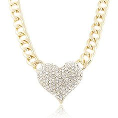 Lookatool Ladies 3D Heart Pendant with a 16 Inch Adjustable Link Chain Necklace ** Visit the image link more details.