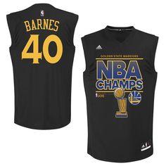 Harrison Barnes Golden State Warriors adidas 2015 NBA Finals Champions Jersey - Black