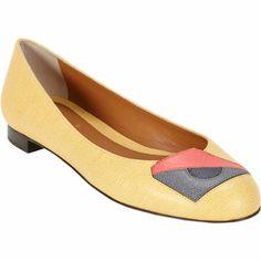 Fendi Geometric Appliqué Ballet Flat at Barneys.com