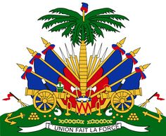 "Haiti's coat of arms. ""L'union fait la force"" - Unity makes strength."