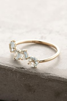14k Gold Gemstone Bar Ring - anthropologie.com