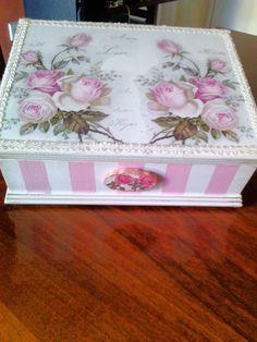 Handmade Decoupage by N&M.Lovely!