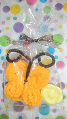 mariposas de toalla facial recuerdos baby shower xv años