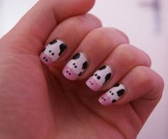 Teen Make Up And Fashion: How To Make Cow Nails
