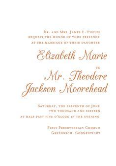 Elegant Script Wedding Invitation | Paper Source